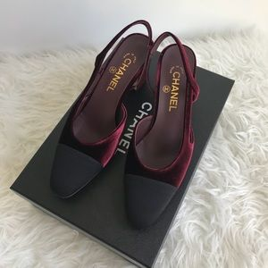 Brand new Chanel slingback shoes !!!!!